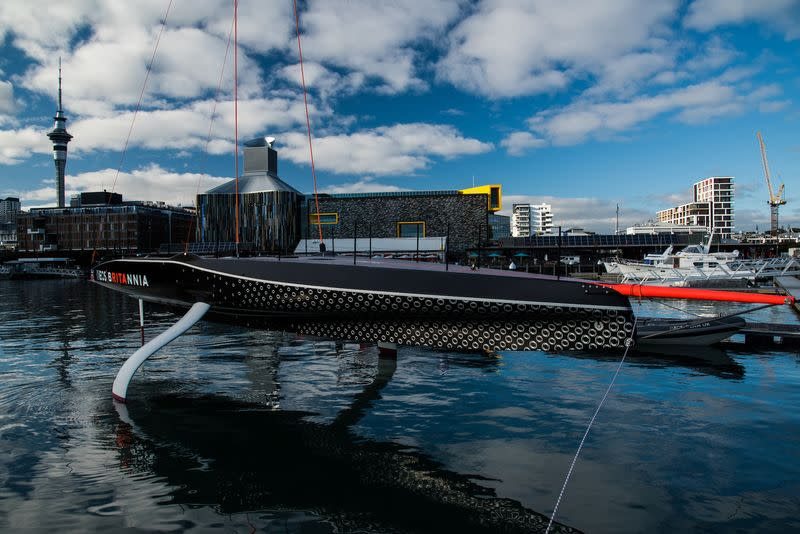 FILE PHOTO: Christening of Britannia the America's Cup race boat of INEOS TEAM UK in Auckland