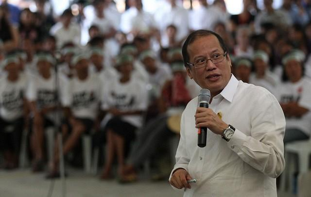 President Benigno S. Aquino III delivers his message during the Dialogue / Meeting with Aurora Ecozone-affected farmers, fisherfolks, indigenous peoples, and their supporters at the Ateneo de Manila University (AdMU) on Tuesday (December 11, 2012). (Photo by: Jay Morales/MPB/NPPA Images)