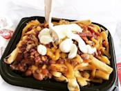 """<p><strong>What is it:</strong> Wendy's natural-cut, skin-on, sea-salted fries topped with Wendy's hearty chilli and rich, creamy cheese sauce. Easy to love. Hard to beat.</p><p><strong>Why it's top tier: </strong>Would you really say no to Wendy's fries smothered in chilli and cheese sauce? Yeah... didn't think so.</p><p><a href=""""https://www.instagram.com/p/BGGfQVqB-Lv/"""" rel=""""nofollow noopener"""" target=""""_blank"""" data-ylk=""""slk:See the original post on Instagram"""" class=""""link rapid-noclick-resp"""">See the original post on Instagram</a></p>"""