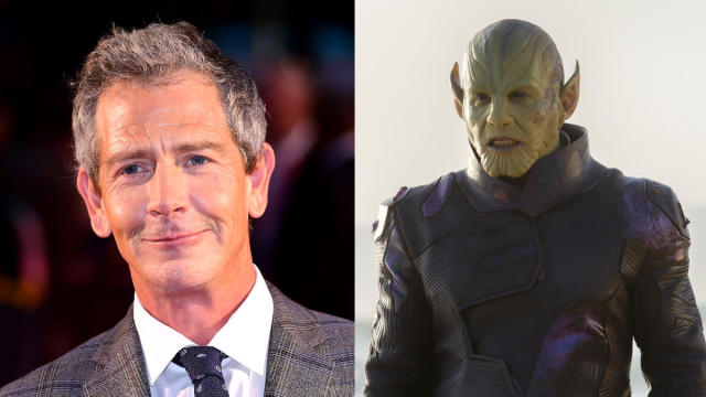 In order to create Skrull leader Talos in <em>Captain Marvel</em>, Aussie actor Mendelsohn had to spend several hours in the make-up chair every day. (Credit: Ian West/PA Images/Marvel)