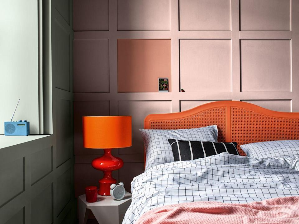 """<p>Panelled walls have topped the list with 65 per cent of the posts analysed featuring them. <a href=""""https://www.housebeautiful.com/uk/renovate/diy/a35288060/how-to-panel-wall/"""" rel=""""nofollow noopener"""" target=""""_blank"""" data-ylk=""""slk:Wall panelling"""" class=""""link rapid-noclick-resp"""">Wall panelling</a> has seen a real resurgence in recent years – it's available in a range of styles and mouldings to suit your tastes, from subtle tongue and groove to elegant geometric designs.</p><p>Why is it so popular? It can create an instant look of sophistication whilst covering up or hiding uneven walls to create a clean slate on which to paint, as well as protecting your walls from general wear and tear.</p><p>However, if you're not quite ready to tackle DIY on your walls, you can get the panelled wall effect by adding some primed MDF boards and painting over it. Or, you can create the same effect with two similar shades of paint. Alternatively, skip painting altogether and get wood panel effect wallpaper, like this design from <a href=""""https://go.redirectingat.com?id=127X1599956&url=https%3A%2F%2Fwww.ilovewallpaper.co.uk%2Fwallpaper-c1%2Fclassic-wood-panel-wallpaper-white-p8007%2Fs8158&sref=https%3A%2F%2Fwww.housebeautiful.com%2Fuk%2Fdecorate%2Fwalls%2Fg37445970%2Finstagram-feature-wall-trends%2F"""" rel=""""nofollow noopener"""" target=""""_blank"""" data-ylk=""""slk:I Love Wallpaper"""" class=""""link rapid-noclick-resp"""">I Love Wallpaper</a>.</p>"""