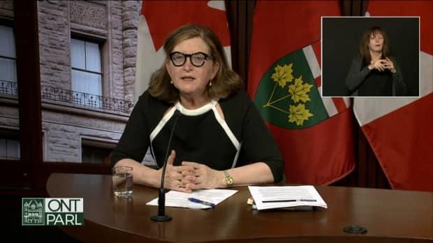 Dr. Barbara Yaffe, Ontario's associate chief medical officer of health, says the province continues to 'see some improvement' as hospitalizations and ICU admissions 'do continue to slowly decline.'