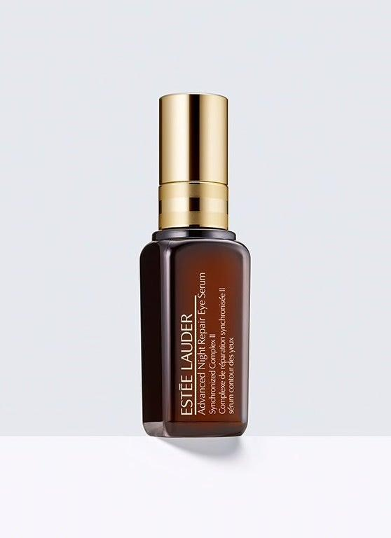 "<h3>Estée Lauder Advanced Night Repair Eye Serum - Synchronized Complex II</h3><br>Wake up to instantly brighter eyes thanks to this overnight treatment. Crow's feet, dark circles, fine lines, and puffiness will soon be a thing of the past.<br><br><strong>Estée Lauder</strong> Advanced Night Repair Eye Serum Synchronized Complex II, $, available at <a href=""https://go.skimresources.com/?id=30283X879131&url=https%3A%2F%2Festeelauder.com%2Fproduct%2F681%2F31272%2Fproduct-catalog%2Fskincare%2Fadvanced-night-repair-eye-serum%2Fsynchronized-complex-ii"" rel=""nofollow noopener"" target=""_blank"" data-ylk=""slk:Estée Lauder"" class=""link rapid-noclick-resp"">Estée Lauder</a>"