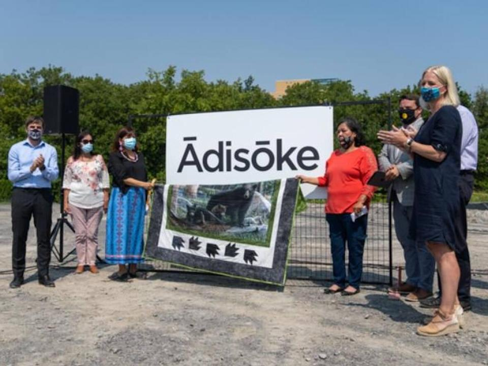 The design of the new library was unveiled in April of this year. And in August, the new name was revealed: Ādisōke, an Anishinaabemowin phrase that means storytelling. (Alexander Behne/CBC - image credit)