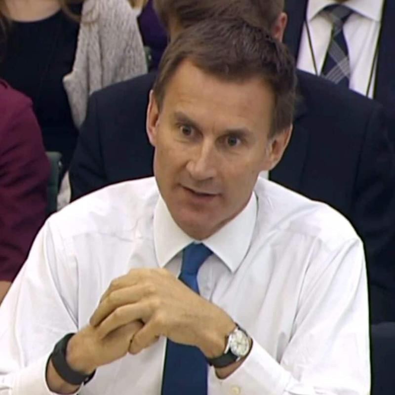 Jeremy Hunt has backed homeopathy in the past - Credit: PA