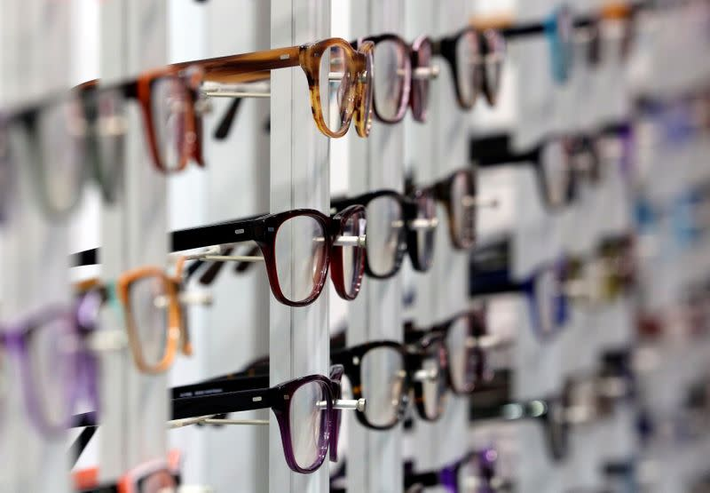 FILE PHOTO: Eyeglasses are seen at the Mido exhibition for glasses and eyewear products in Milan