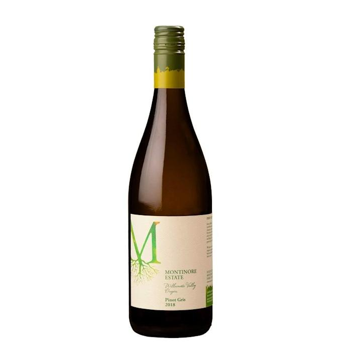 "This bright and bountiful Pino Gris is a must for anyone who has a thing for juicy white wines. It's got notes of white pear, green apple, and a hint of pie crust, complete with a crisp and refreshing floral finish. $18, Wine.com. <a href=""https://www.wine.com/product/montinore-estate-pinot-gris-2018/651594"" rel=""nofollow noopener"" target=""_blank"" data-ylk=""slk:Get it now!"" class=""link rapid-noclick-resp"">Get it now!</a>"