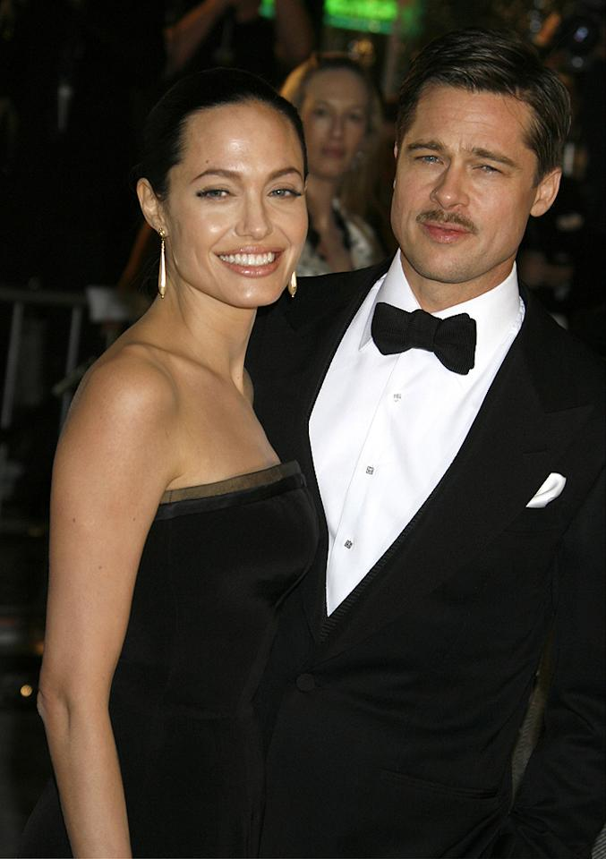 "<a href=""http://movies.yahoo.com/movie/contributor/1800019275"">Angelina Jolie</a> and <a href=""http://movies.yahoo.com/movie/contributor/1800018965"">Brad Pitt</a> at the Los Angeles premiere of <a href=""http://movies.yahoo.com/movie/1809785152/info"">The Curious Case of Benjamin Button</a> - 12/08/2008"