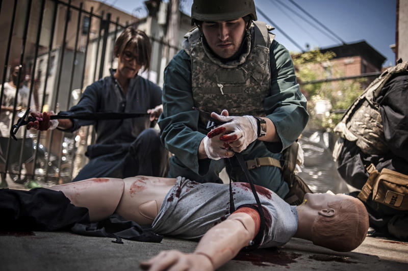 Freelance reporters train in combat zone first aid