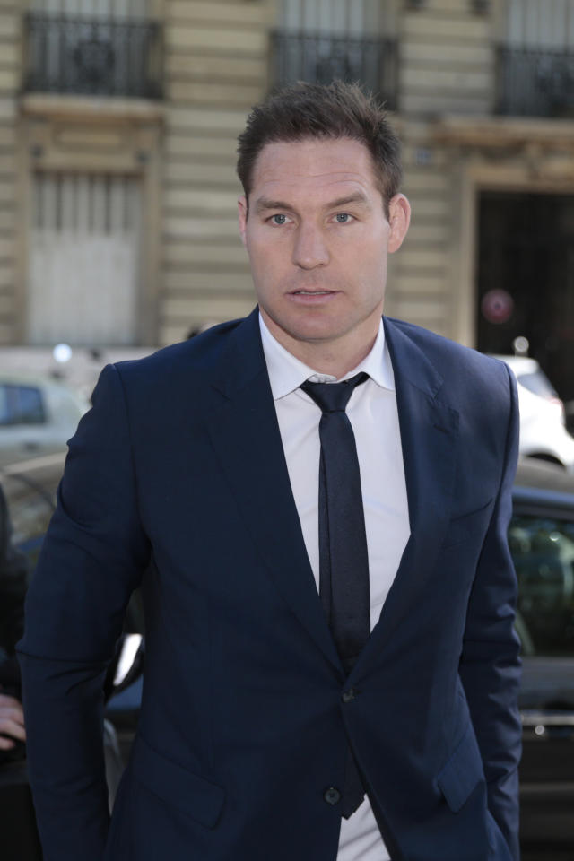 Former lock Ali Williams of New Zealand arrives for an appearance before the French National Rugby League (Ligue Nationale de Rugby, LNR) disciplinary commission in Paris on April 12, 2017, after being fined by a French court for buying cocaine outside a Paris nightclub.Ali Williams and James O'Connor are to appear before the French National Rugby League (Ligue Nationale de Rugby, LNR) disciplinary commission after the 35-year-old former lock was arrested alongside the Australian international. The police took the rugby stars into custody and tested them for cocaine. Williams returned a negative result and O'Connor tested positive and was fined for using the drug. (AFP Photo/GEOFFROY VAN DER HASSELT)