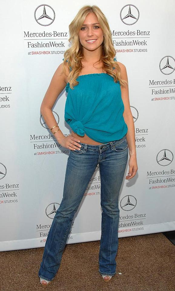"Kristin Cavallari also went California casual for ""Laguna Beach"" rival Lauren Conrad's show. What was up with all the denim? Jean-Paul Aussenard/<a href=""http://www.wireimage.com"" target=""new"">WireImage.com</a> - March 11, 2008"