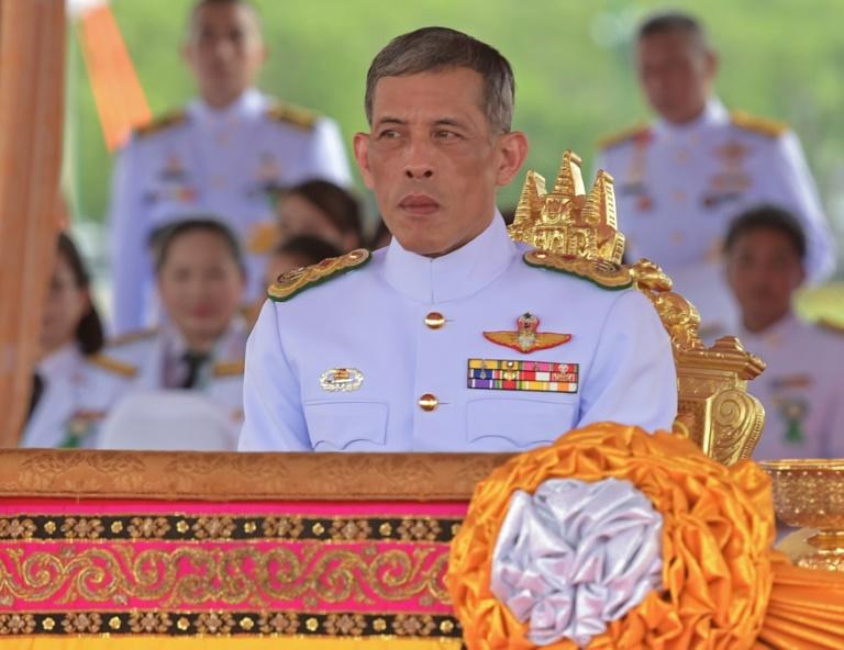 Thailand's Crown Prince Maha Vajiralongkorn attends the annual royal ploughing ceremony in Bangkok on May 13, 2015