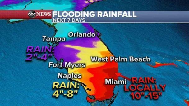 PHOTO: Some areas in southern Florida could see 10 to 15 inches of rain. (ABC News)