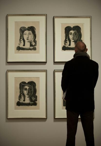 Picasso painted it during his pre-Cubist phase (AFP Photo/JOHN MACDOUGALL)