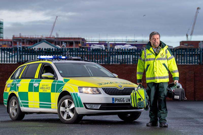 North West Ambulance Service senior paramedic Mike Quirk at Toxteth Ambulance Station in Liverpool (Photo: Ian Robinson)