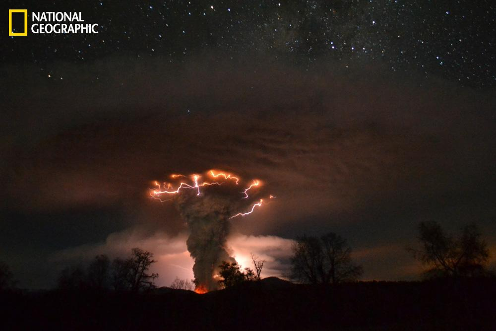 With the National Geographic Your Shot feature, readers and amateur photographers can submit their images for possible publication on the website and in the magazine. Check out this slideshow to see some of the best photos from October.  In this image, Cordon del Caulle erupts in Chile.  (Photograph courtesy Ricardo Mohr/National Geographic Your Shot)