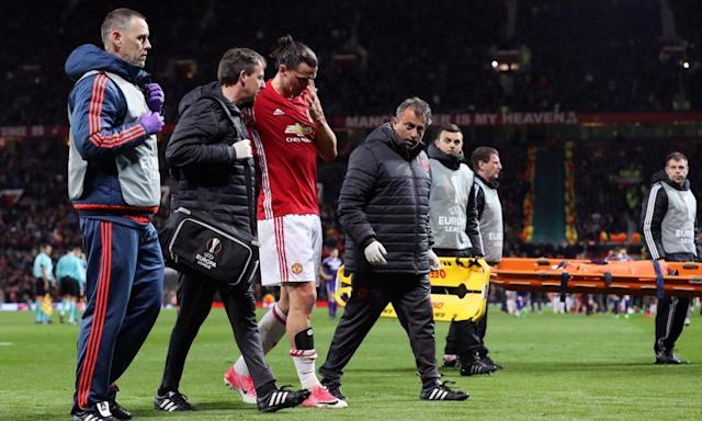 """<span class=""""element-image__caption"""">Zlatan Ibrahimovic said that he intends to """"come back stronger"""" from the knee injury he suffered against Anderlecht.</span> <span class=""""element-image__credit"""">Photograph: Martin Rickett/PA</span>"""