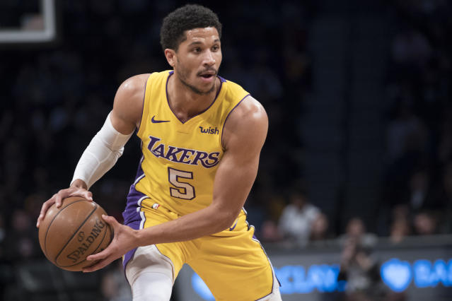 "<a class=""link rapid-noclick-resp"" href=""/ncaab/players/120644/"" data-ylk=""slk:Josh Hart"">Josh Hart</a> has played 55 games for the Lakers this season. (AP)"