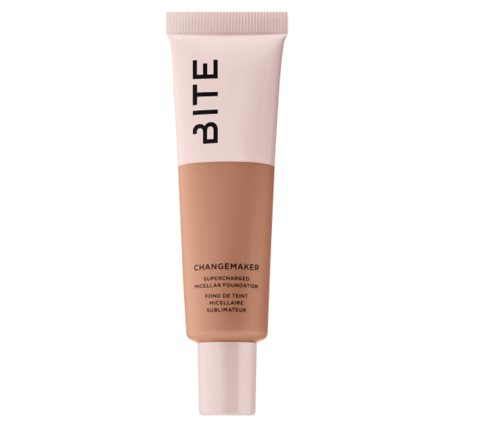 "<p><strong>Bite Beauty</strong></p><p>sephora.com</p><p><strong>$39.50</strong></p><p><a href=""https://go.redirectingat.com?id=74968X1596630&url=https%3A%2F%2Fwww.sephora.com%2Fproduct%2Fbite-beauty-changemaker-supercharged-micellar-foundation-vegan-P454740&sref=https%3A%2F%2Fwww.womenshealthmag.com%2Fbeauty%2Fg32174487%2Fchloe-coscarelli-vegan-beauty-routine%2F"" rel=""nofollow noopener"" target=""_blank"" data-ylk=""slk:Shop Now"" class=""link rapid-noclick-resp"">Shop Now</a></p><p>""I'm obsessed with this foundation because it's not too heavy but not too sheer. It evens out my face and gives me color without looking like I have makeup caked on.""</p>"