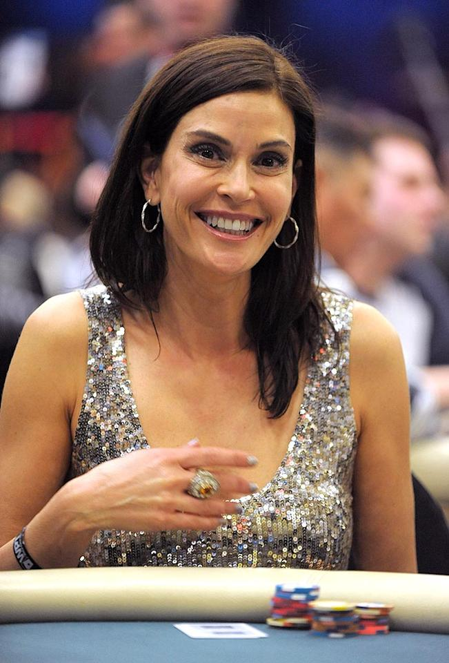 """Is it just us, or does it look like Teri Hatcher had a tad too much caffeine? Jordan Strauss/<a href=""""http://www.wireimage.com"""" target=""""new"""">WireImage.com</a> - February 20, 2010"""
