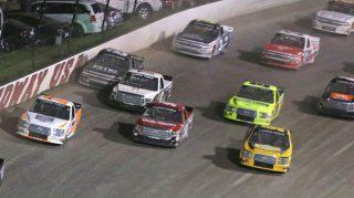 Camping World Truck teams on the dirt at Eldora Speedway. (Photo by Matt Sullivan/Getty Images)