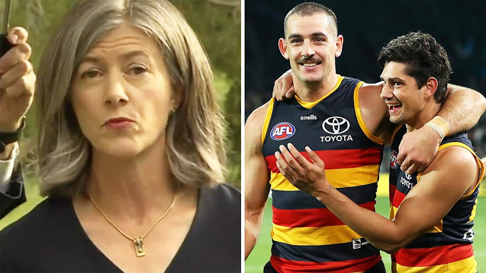 South Australian chief health officer Professor Nicole Spurrier advised fans not to touch the ball at this weekend's AFL match at Adelaide Oval.