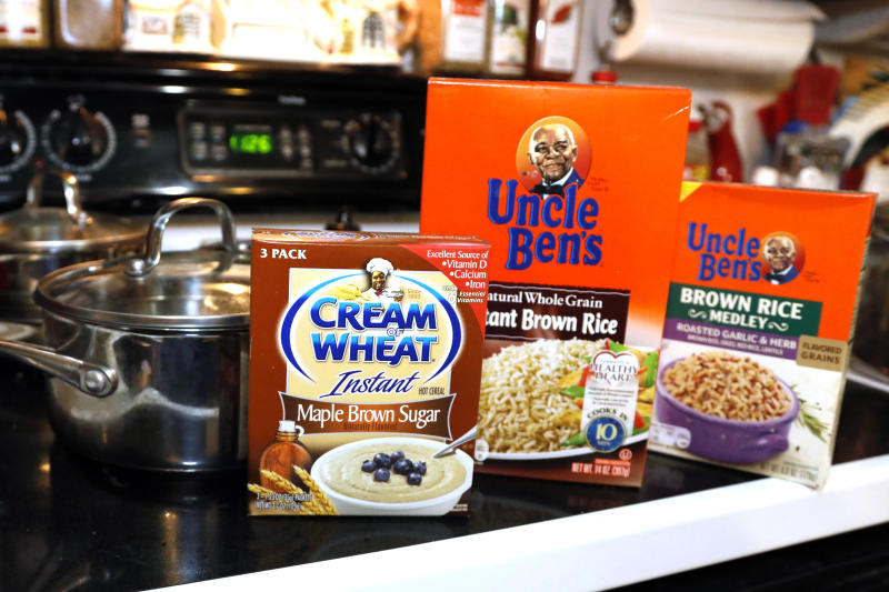 "Cream of Wheat packaging, are photographed Thursday, June 18, 2020 in Jackson, Miss. The owner of the Uncle Ben's brand of rice says the brand will ""evolve"" in response to concerns about racial stereotyping. (AP Photo/Rogelio V. Solis)"