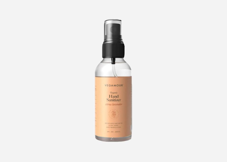 "<p>Sprays tend to be less sticky than gels, as is the case with this citrus lavender-scented spray from Vegamour, made with 75% isopropyl alcohol. Your purchase <a href=""https://www.cntraveler.com/story/major-hotel-brands-are-donating-millions-of-rooms-to-coronavirus-workers?mbid=synd_yahoo_rss"" rel=""nofollow noopener"" target=""_blank"" data-ylk=""slk:does some good"" class=""link rapid-noclick-resp"">does some good</a>, too: A portion of each purchase goes to Project Angel Food, which prepares and delivers healthy meals to the families affected by life-threatening illnesses throughout Los Angeles.</p> <p><strong>Buy now:</strong> <a href=""https://fave.co/3bJpTwL"" rel=""nofollow noopener"" target=""_blank"" data-ylk=""slk:$6-$16, vegamour.com"" class=""link rapid-noclick-resp"">$6-$16, vegamour.com</a></p>"