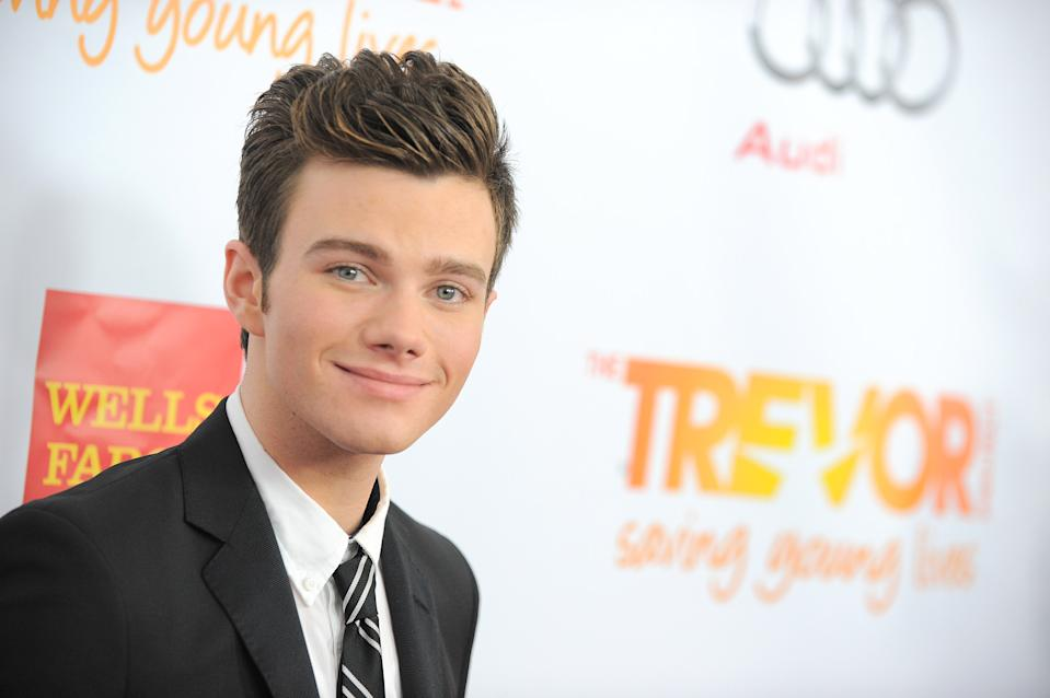 Chris Colfer arrives at Trevor Live, an event organized by The Trevor Project, in 2012 (Photo by Jordan Strauss/Invision/AP).