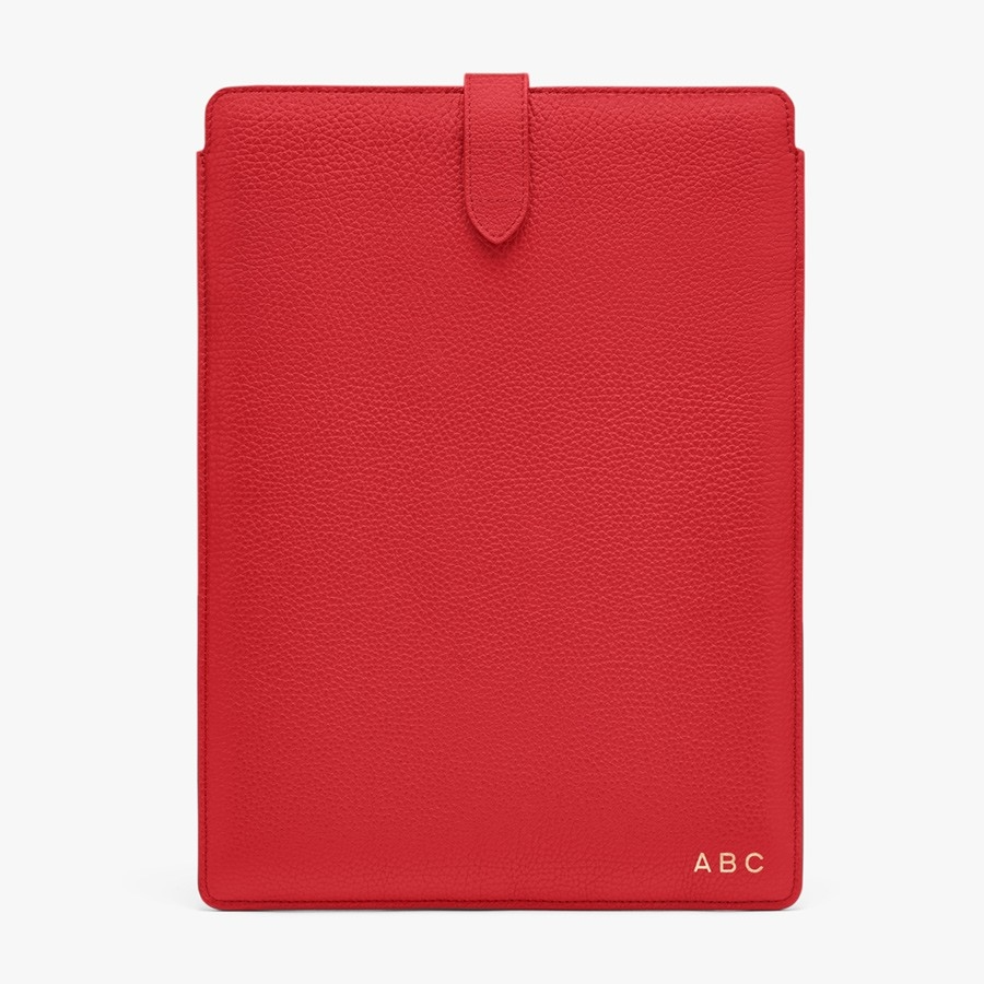 """<h3>Cuyana Leather Laptop Sleeve</h3><br>Cuyana's entire ideology rests on the motto: Fewer, better things. Female founders Karla Gallardo and Shilpa Shaharla believe in mindful consumption. By investing in quality items, your closet and your home can remain uncluttered. The brand has an extensive sustainability pledge that's focused on keeping items out of our landfills and finding ways to give products a second life through responsible recycling. <br><br><strong>Cuyana</strong> Leather Laptop Sleeve, $, available at <a href=""""https://go.skimresources.com/?id=30283X879131&url=https%3A%2F%2Fwww.cuyana.com%2Fnew-leather-laptop-sleeve.html%23caramel%2613"""" rel=""""nofollow noopener"""" target=""""_blank"""" data-ylk=""""slk:Cuyana"""" class=""""link rapid-noclick-resp"""">Cuyana</a>"""