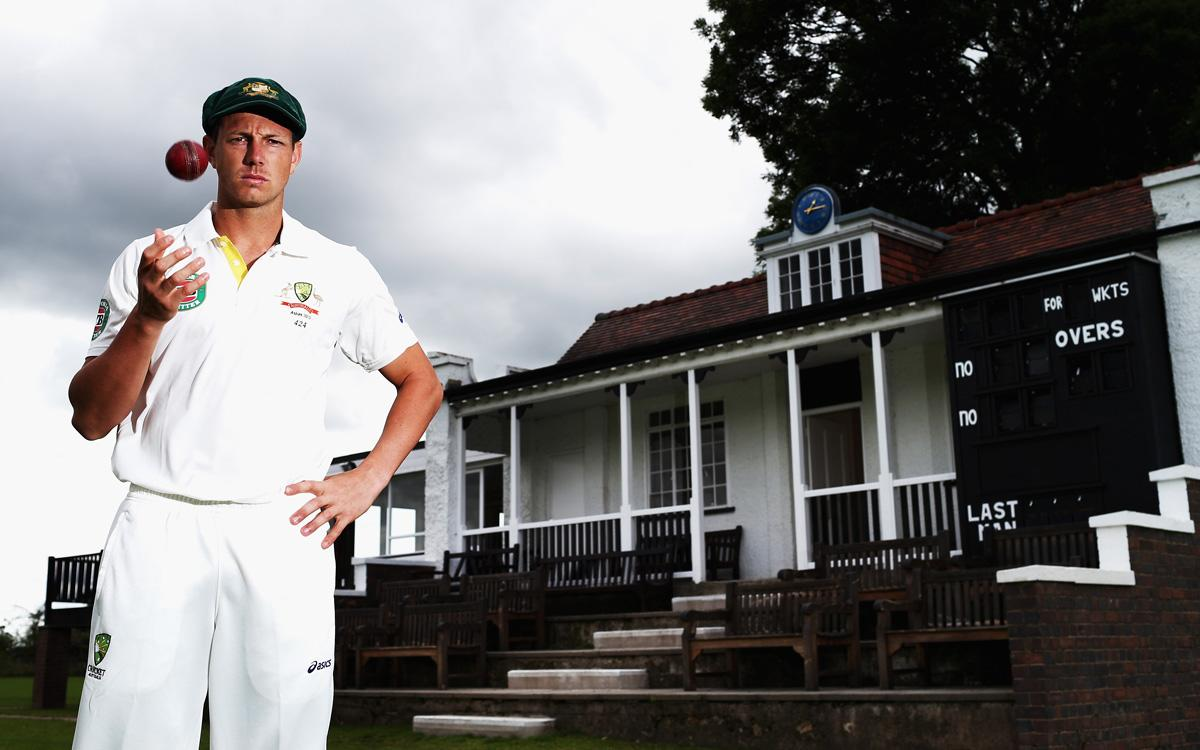 WORCESTER, ENGLAND - JULY 04:  James Pattinson of Australia poses during a portrait session at New Road on July 4, 2013 in Worcester, England.  (Photo by Ryan Pierse/Getty Images)