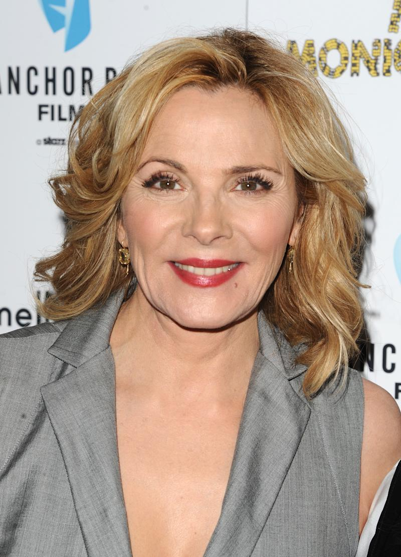 "FILE - In this March 29, 2011 file photo, actress Kim Cattrall attends a screening of ""Meet Monica Velour"" in New York. Cattrall and Paul Gross will star on Broadway this autumn in Noël Coward's ""Private Lives,"" opening Thursday Nov. 17, 2011. The limited engagement will run through Feb. 5  (AP Photo/Peter Kramer, file)"
