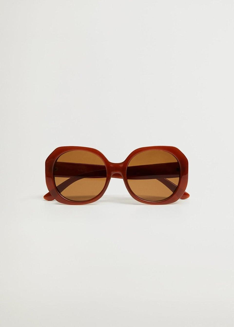 <p>These <span>Mango Oversize Sunglasses</span> ($40) pop in a cool retro way.</p>