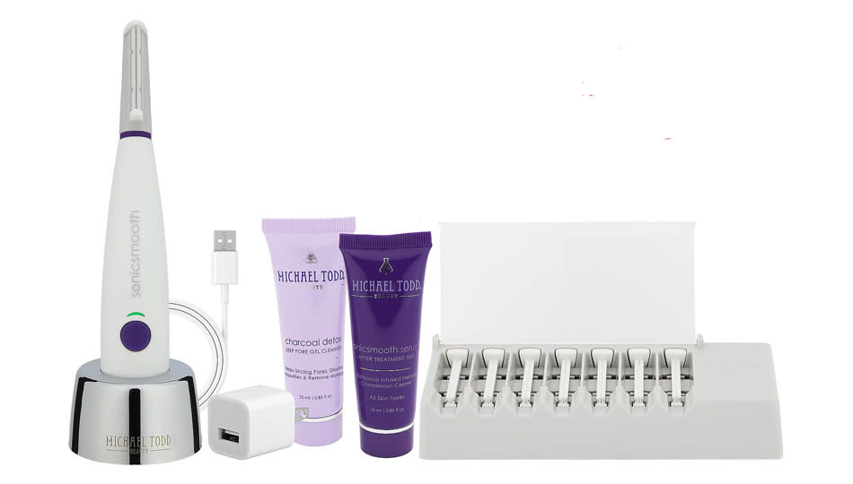 This dermaplaning kit by Michael Todd is an all-in-one, and it's 30 percent off. (Photo: QVC)
