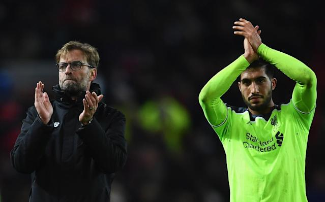 Jurgen Klopp and Emre Can