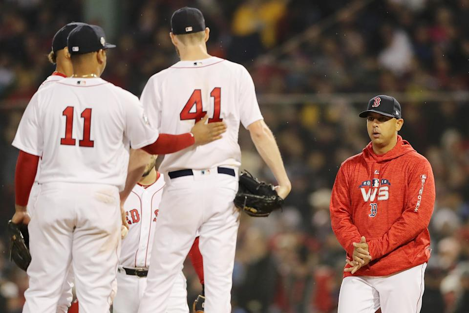 Tuesday's game by the numbers: Three hours, 52 minutes, a dozen pitchers, two dozen position players, 308 pitches and 24 strikeouts. (Getty Images)