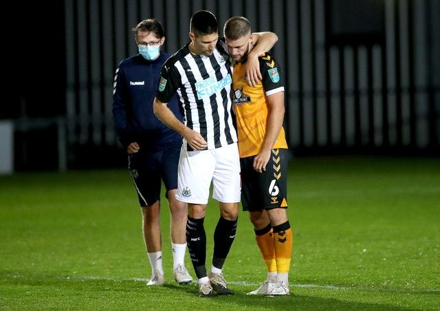 Newport County v Newcastle United – Carabao Cup – Fourth Round – Rodney Parade
