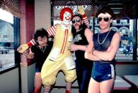 <p>Phil Taylor, Ian 'Lemmy' Kilmister, and Brian Robertson, better known as the British metal band Motorhead, at a McDonald's restaurant in Chicago. Just because.</p>