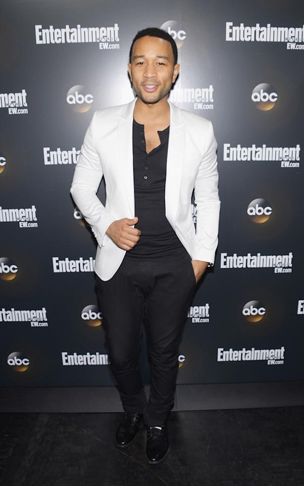 "John Legend (""Duets"") attends the Entertainment Weekly and ABC Upfront VIP Party at Dream Downtown on May 15, 2012 in New York City."