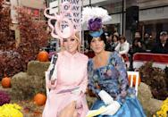 <p>It's Princess Beatrice (KLG) and Princess Eugenie (Hoda)! The fourth-hour duo donned the princesses' elaborate hats and bright-colored dresses as part of the recreation of the royal wedding on <em>Today</em>. </p>
