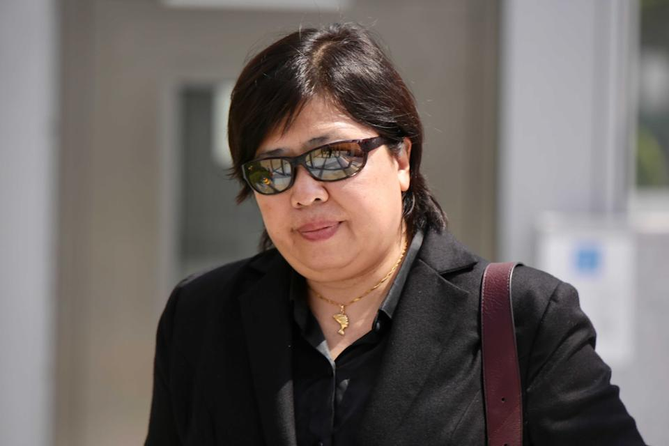 Phoon Chiu Yoke, 53, seen leaving the State Courts on Monday (24 May). She is currently on trial for breaching COVID-19 regulations by not wearing a mask while at Newton Food Centre in May last year. (PHOTO: Yahoo News Singapore/Dhany Osman)