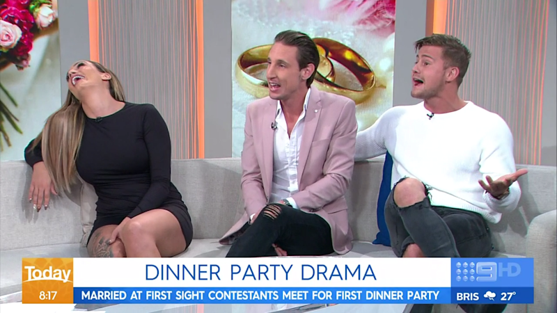 An explosive appearance on Today this morning may land MAFS contestants in hot water. Photo: Nine