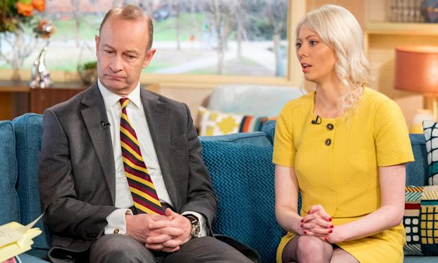 Henry Bolton and Jo Marney, who are back together, appear on ITV's This Morning.