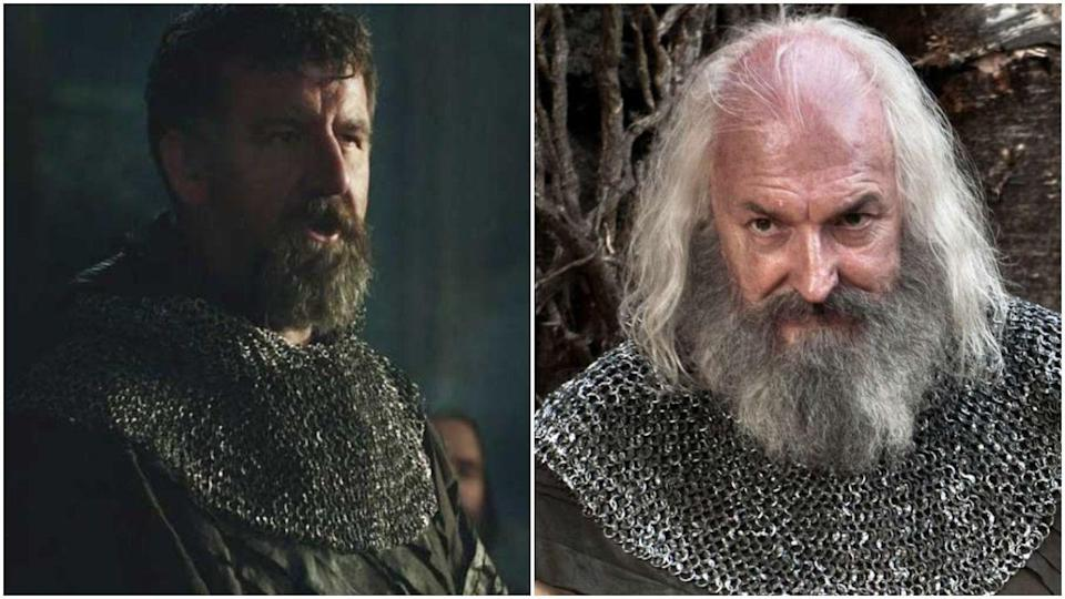 <p>Oh yes, it's yet another <em>Game of Thrones</em> recasting. This time, the show decided to ditch season 1's Steven Blount and replace him with an actor named John Stahl for season 2. Fine, but someone explain how Rickard went fully gray in a matter of months.</p>