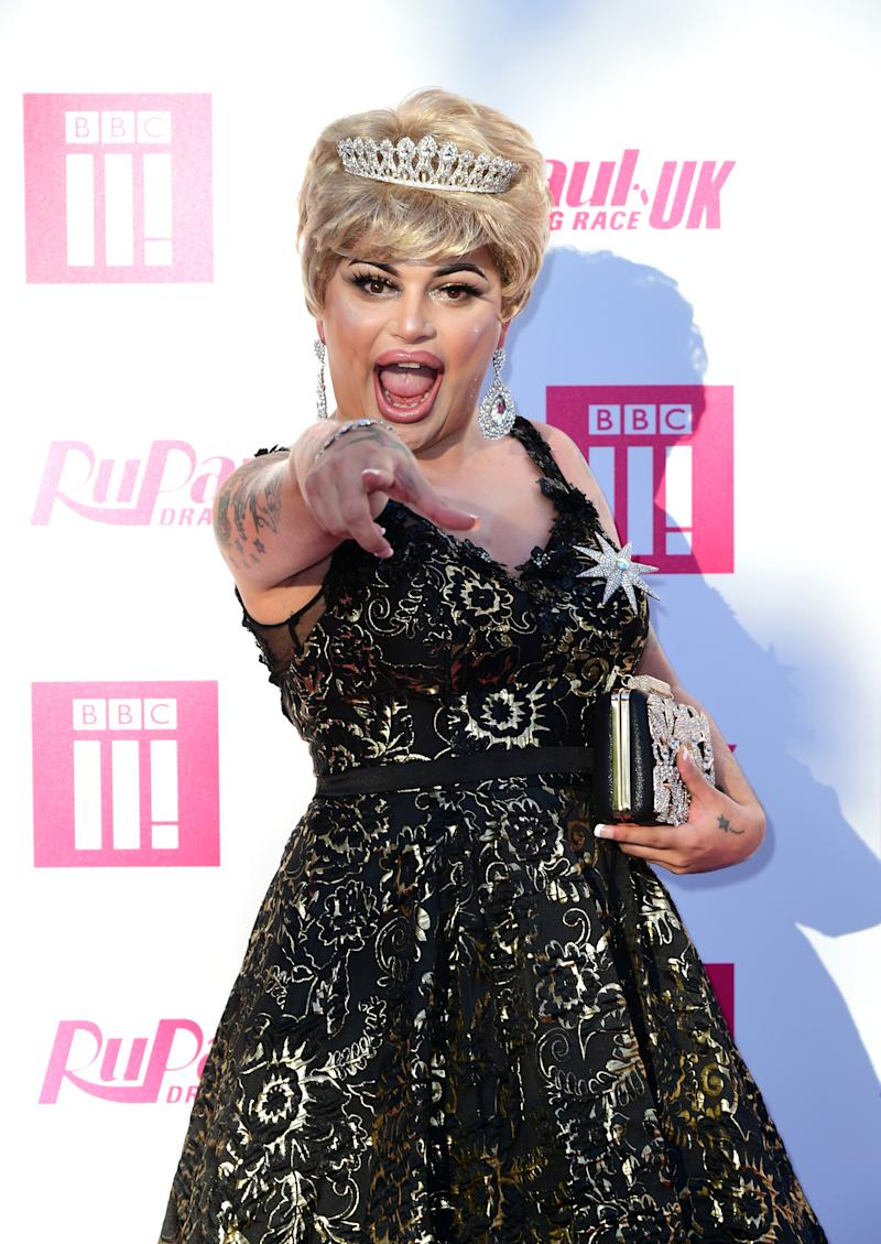 Baga Chipz attending the RuPaul Drag race premiere, Bloomsbury Ballroom, London. (Photo by Ian West/PA Images via Getty Images)