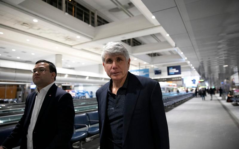 Former Gov. Rod Blagojevich arrives to Denver International Airport - AP