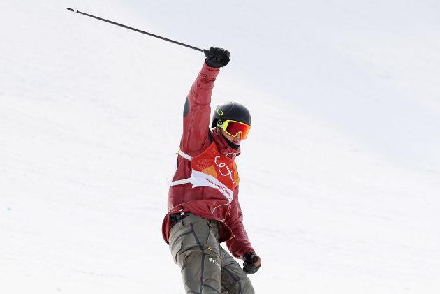 Alex Beaulieu-Marchand of Canada wins the bronze medal in the men's ski slopestyle.