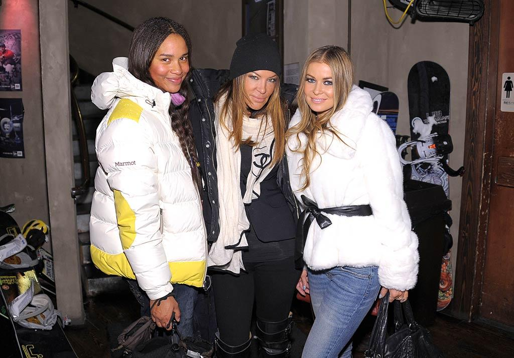 "Joy Bryant, Robin Antin, and Carmen Electra stocked up on ski gear at the Oakley Learn To Ride Fueled By Muscle Milk And Lounge before heading off for a free snowboarding lesson on the slopes. Michael Loccisano/<a href=""http://www.gettyimages.com/"" target=""new"">GettyImages.com</a> - January 22, 2011"