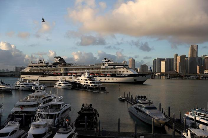 The Celebrity Infinity cruise ship. 'When you have 3,500 people booked on one of these mega cruises and the boat doesn't go, it's an enormous expense.'