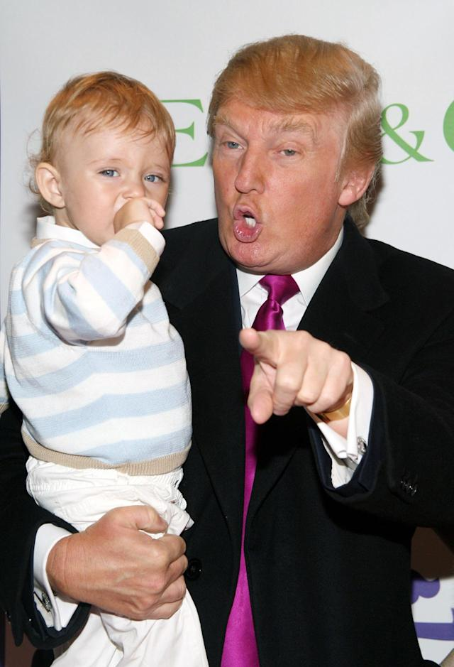 "<p>Donald and Barron during the Society of Memorial Sloan-Kettering Cancer Center's 16th Annual ""Bunny Hop"" at FAO Schwarz in New York on March 13, 2007. <i>(Photo: Sylvain Gaboury/FilmMagic)</i> </p>"